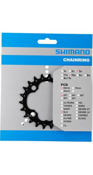 Shimano SLX FC-M672/FC-M622 Zębatka rowerowa AN 64 mm 22Z czarny